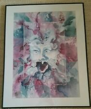 """Original Watercolor-painting by Joan Armstrong. 36"""" x 28"""" Framed. """" Old Blowhard"""