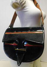 Guarnielaria Jerico Calf Hair & Leather Crossbody Shoulder Messenger Saddle Bag