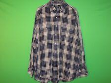 Polo Ralph Lauren Mens Size L Large Benford Blue Plaid Long Slv Pocket Shirt