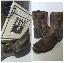 Nwt Frye Short Distressed Motorcycle Biker Brown Mismatch Boots Mens11 10Uk 43Eu