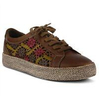 L'Artiste Mea Women's Floral Leather Sneaker 35 / US 5
