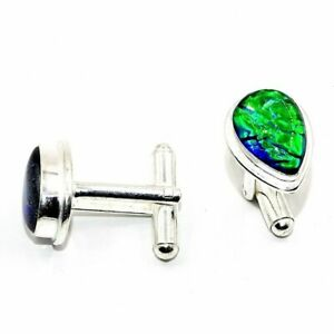 Australian Triplet Opal Gemstone Handmade Jewelry Cufflinks PR305YL