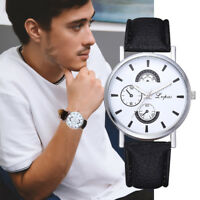 Unisex Simple Casual Quartz Leather Band Watches Analog Daily Wrist Watch Gifts