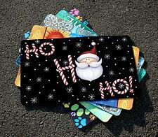 NEW Toland - Ho Ho Ho Santa - Decorative Christmas Snowflake Door Standard Mat