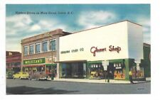 """""""UNION, SC"""" - Modern Stores on Main Street - shows store front and autos/cars"""