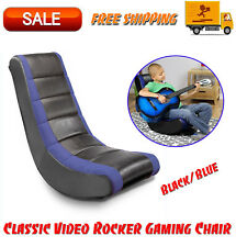 Classic Video Rocker Gaming Chair, Black/Blue, Kids' Furniture, Chairs & Seating
