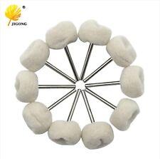 24mm Set of 10 Polishing Buffing Wool Cotton Wheel Dremel Rotary Tool Accessory