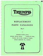 Triumph Parts Manual Book 1966 Tiger 100 T100, Tiger 100 T100R & Tiger 100 T100C