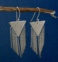 Plain Silver Jewelry Solid 925 Sterling Silver  Drop Handmade Earring ME3376