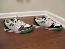Used Worn Size 12 DC Shoes Voltron Skateboard Shoes White Black Green Pink Gray