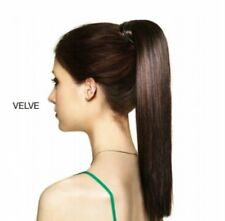 HAIR COUTURE BY SLEEK LONG SYNTHETIC HEAT RESISRANT VELCRO PONY TAIL-VELVE