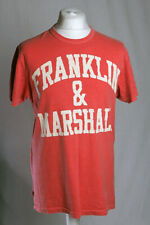 Franklin Marshall Logo T-Shirt Single Stitch Made In Italy Red Men's XL VGC!