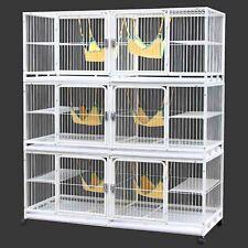 185cm 6 in 1 Triple Stacker Dog Cat Cage Boarding Breeding Enclosure Divider