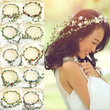 Colorful Flower Bride Party Wedding Crown Boho Floral Wreaths Head Hair Band