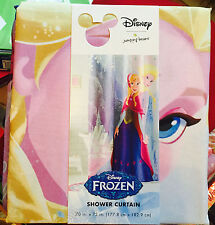 Shower Curtain Frozen Disney Anna Elsa Pink Purple Blue Girls Bathroom