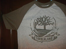 Timberland short sleeve gray FRONT GRAPHIC RAGLAN size small NWT in sealed bag!!