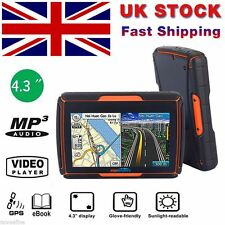 "Motorbike GPS SAT NAV Navigation Waterproof UK & Europe Maps 4.3"" Touch 8G 256M"