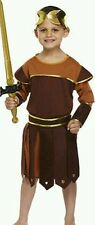 GREEK ROMAN SOLDIER/WARRIOR/GLADIATOR FANCY DRESS OUTFIT/COSTUME AGE 7 - 9 NEW