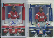CHEVEZ CLARKE AUTOGRAPH #/799 + ASPIRATIONS RC /200 2010 DONRUSS ELITE AUTO
