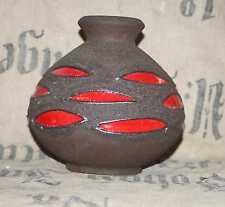 70er 70s Schlossberg Keramik Hans Welling Pottery Fat Lava Rot