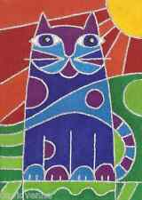 Pop Art Cat by Venne 9x12 inch on Zweigart Needlepoint Canvas ready to finish
