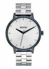 **BRAND NEW** NIXON WATCH THE KENSINGTON NAVY SILVER A0991849 NEW IN BOX!