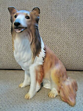 Homco 1986 Master Piece porcelain collection sable & white collie dog figurine