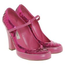 Runway sports luxe sparkly Marc Jacobs Mary Janes, pink sequins, 37 UK 4 new