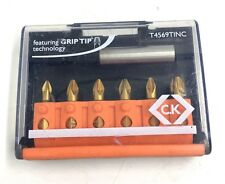 C.K Tools Cacciavite 6 in 1 Bit Set TIN pzdt 4569 PRINCI