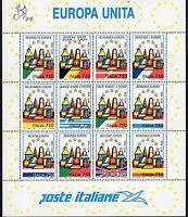 Italia Repubblica 1993 Foglietto Europa Unita MNH**