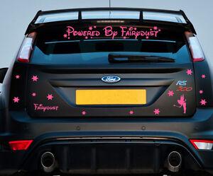 Powered By Fairydust | Car Sticker Decal Kit Vinyl Pink Girls Vehicle [C1]