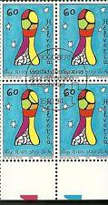 Francobollo USATO SVIZZERA 1994 1 VALORE LOTTA CONTRO  AIDS FDC in QUARTINA