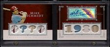 2009 Mike Schmidt Topps Sterling Booklet 8x Jersey & Bat Relics / Auto /10