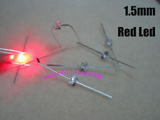 50pcs, New 1.5mm Mini Red Water Clear LED Leds Light Made in Taiwan + Resistors
