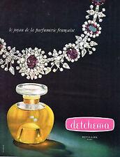 PUBLICITE ADVERTISING  1965   REVILLON   parfum  DETCHEMA