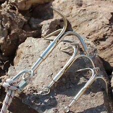 Stainless Steel Outdoor Survival Grappling Hook Rock Climbing Claw Carabiner