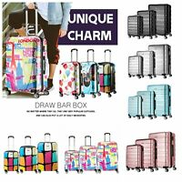 Cabin/Medium/Large Hard Shell Suitcase TSA Luggage Trolley Cases 4 Wheel Spinner