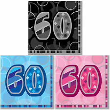 Birthday Party Napkins  13th 16th 18th 21st 30th 40th 50th Pack of 16 Decoration