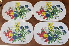New listing Vintage Vera Neumann Flower Vinyl Placemats Set of 4