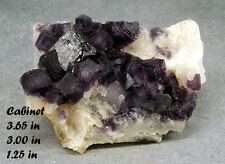 FLUORITE PURPLE CHOAHULA MEXICO MINERAL CRYSTAL GEM ROCK GEMSTONE