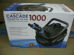 """Penn Plax Cascade Cansiter Filter 1000, 265 GPH - Up To 100 Gallon,8""""Lx11""""Wx14""""H"""