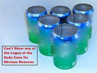 6 pack of Green 12 oz, Beer Soda Can Covers, Sleeve Wrap Camo Golf Beach Pool