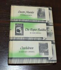 Encore Murder The Bogus Buddha & Crackdown 3 Novels in 1 Vintage Book