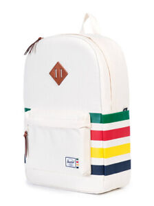 RARE Herschel x Hudsons Bay HBC Heritage Backpack White Rainbow Stripes