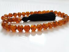 Baltic Amber ! 80 g.Islamic 33 worry Beads Rosary Prayer Tasbih Misbahaمسبح...