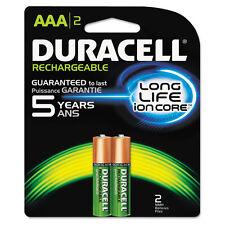 Duracell Rechargeable Nimh Batteries Duralock Power Preserve Technology Aaa 2/pk