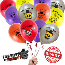 16 ct Five Nights at Freddy's Decorations Balloons / Video Gamer Party Supplies
