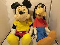 Disney Worlds of Wonder Talking Goofy and Mickey Mouse (Read Description)