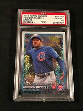 2015 TOPPS CHROME UPDATE REFRACTOR - ADDISON RUSSELL RC # US220 PSA 10 GEM MINT
