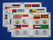 United Nations - 2008 Flags & Coins MNH sheet set